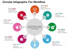 Circular Infographic For Workflow PowerPoint Templates