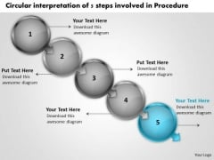 Circular Interpretation Of 5 Steps Involved Procedure Ppt Best Flowchart Slides PowerPoint Templates