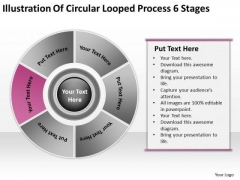 Circular Looped Process 6 Stages Outline For Business Plan PowerPoint Templates