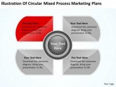 Circular Mixed Process Marketing Plans Ppt Laundromat Business PowerPoint Templates