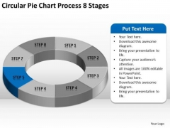 Circular Pie Chart Process 8 Stages Business Plan Executive Summary PowerPoint Templates