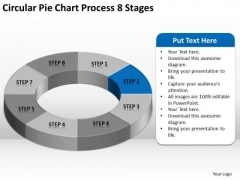 Circular Pie Chart Process 8 Stages Business Plan PowerPoint Slides