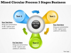 Circular Process 3 Stages Business Ppt Making Plan Template PowerPoint Templates