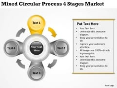 Circular Process 4 Stages Market Pp Business Plans For Small PowerPoint Templates