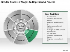 Circular Process 7 Stages To Represent Business Plan PowerPoint Slides