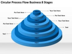 Circular Process Flow Business 8 Stages Ppt Busness Plan PowerPoint Slides