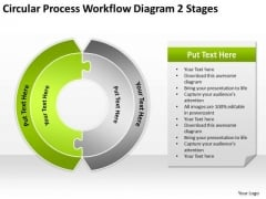 Circular Process Workflow Diagram 2 Stages Business Plan PowerPoint Slides