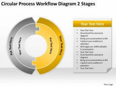 Circular Process Workflow Diagram 2 Stages Business Plan Templet PowerPoint Templates