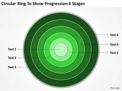 Circular Ring To Show Progression 6 Stages Business Continuity Plan PowerPoint Slides