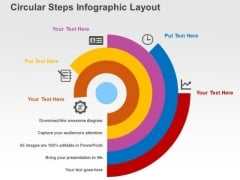 Circular Steps Infographic Layout PowerPoint Templates