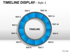 Circular Timeline Chart PowerPoint Slides And Ppt Templates