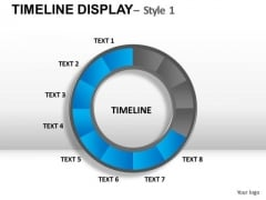 Circular Timeline Display 1 PowerPoint Slides And Ppt Diagram Templates