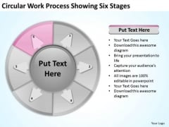 Circular Work Process Showing Six Stages Basic Business Plan PowerPoint Slides