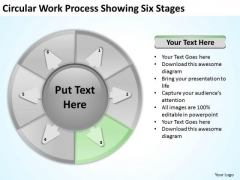 Circular Work Process Showing Six Stages Business Plan Template PowerPoint Templates