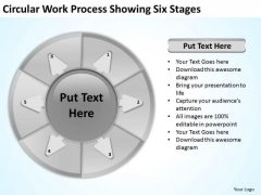 Circular Work Process Showing Six Stages Download Business Plan PowerPoint Slides