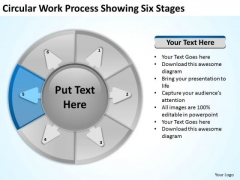 Circular Work Process Showing Six Stages Make Business Plan PowerPoint Templates