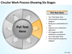 Circular Work Process Showing Six Stages Marketing Plan For Small Business PowerPoint Slides