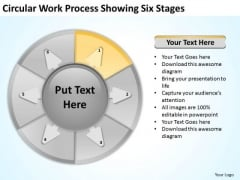 Circular Work Process Showing Six Stages Startup Business Plan PowerPoint Templates