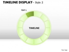 Circular Years Timeline Display 2 PowerPoint Slides And Ppt Diagram Templates