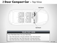Classic Shapes 2 Door Blue Car Top PowerPoint Slides And Ppt Diagram Templates