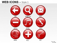 Clipart Web Icons PowerPoint Slides