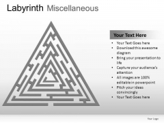 Closed Concept Labyrinth Miscellaneous PowerPoint Slides And Ppt Diagram Templates