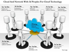 Cloud And Network With 3d Peoples For Cloud Technology
