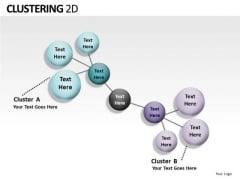 Cluster Diagram Clustering 2d PowerPoint Slides And Ppt Diagram Templates