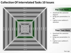 Collection Of Interrelated Tasks 10 Issues How To Prepare Business Plan PowerPoint Slides