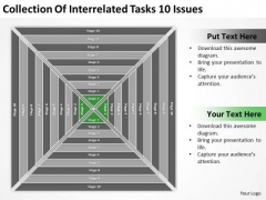Collection Of Interrelated Tasks 10 Issues Ppt Fashion Business Plan PowerPoint Slides