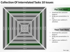 Collection Of Interrelated Tasks 10 Issues Ppt How To Business Plan PowerPoint Templates