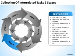 Collection Of Interrelated Tasks 6 Stages Security Business Plan PowerPoint Slides