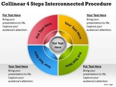 Collinear 4 Steps Interconnected Procedure Business Plans Online PowerPoint Slides