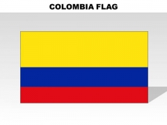 Colombia Country PowerPoint Flags