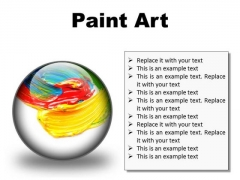 Color Paint Art PowerPoint Presentation Slides C