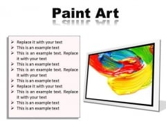 Color Paint Art PowerPoint Presentation Slides F