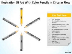 Color Pencils In Circular Flow Ppt 1 Free Non Profit Business Plan Template PowerPoint Templates