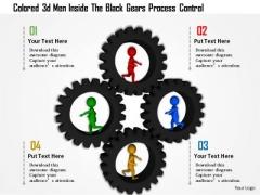Colored 3d Men Inside The Black Gears Process Control