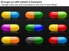Colored Capsules PowerPoint Templates Medication Ppt Slides