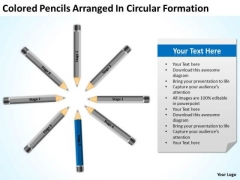 Colored Pencils Arranged In Circular Formation Ppt Business Plan Development PowerPoint Slides