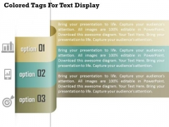 Colored Tags For Text Display Presentation Template