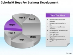 Colorful 6 Steps For Business Development Ppt Plan Dummies PowerPoint Slides
