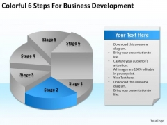 Colorful 6 Steps For Business Development Ppt Sample Plan Format PowerPoint Templates
