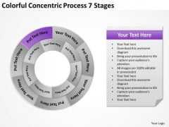 Colorful Concentric Process 7 Stages Ppt Plan Business PowerPoint Templates