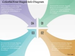 Colorful Four Staged Info Diagram PowerPoint Template