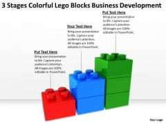 Colorful Lego Blocks Business Development Open Source Plan Software PowerPoint Slides