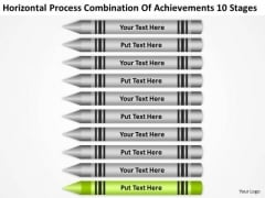 Combination Of Acheivements 10 Stages Ppt Sample Small Business Plan PowerPoint Slides