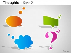 Communication Thoughts 2 PowerPoint Slides And Ppt Diagram Templates