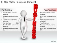 Company Business Strategy 3d Man With Concept