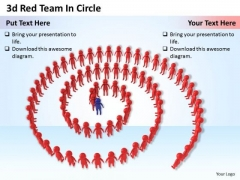 Company Business Strategy 3d Red Team Circle Concept Statement